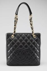 Chanel handbag in Signature Quilted Caviar Leather which is one of the most sought after finishes - photo courtesy of http://www.shopRDR.com