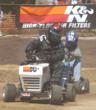 Ken Jones of the K&N Filters Lawn Mower Racing Team.