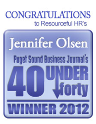 Puget Sound Business Journal 40 under 40 Award