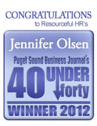 Puget Sound Business Journal 40 under 40 Award