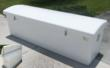 Dock box with a UV gel coat to protect it from sun damange