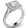 Princess Cut Tiffany Legacy Style Engagement Ring Image