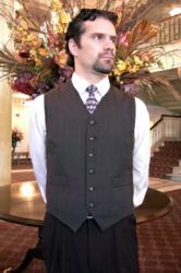 Custom Mens Vest, Style  M414 - Crooked Brook