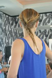 Fishtail braid created using LASIO HYPERSILK Smoothing Balm and the NEW Soft Hold Spray