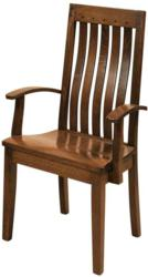 The Fresno Dining Chair boasts a timeless Mission design.