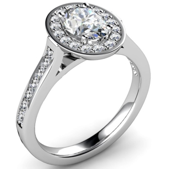 Available OnlineOval Cut Tiffany Legacy Style Engagement Ring
