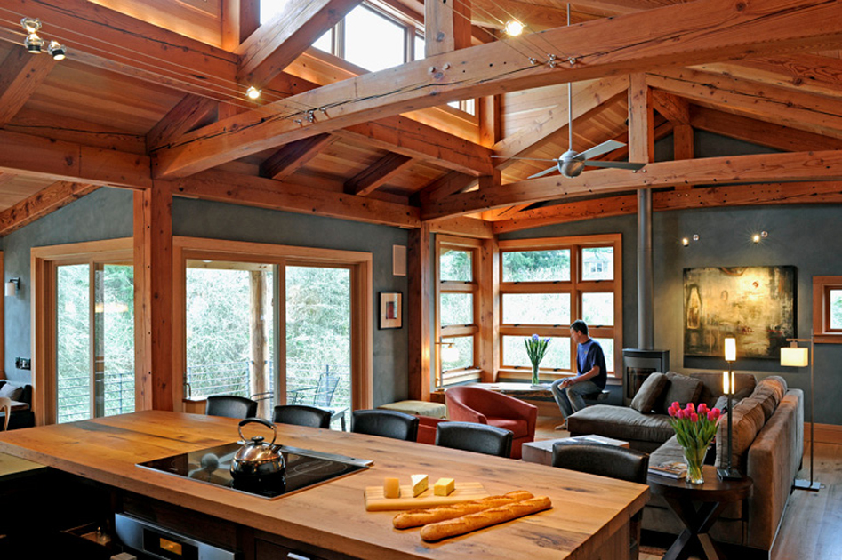Timber Frame Home Raising In Tennessee