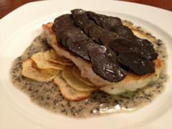 Chilean Sea Bass with Black Truffles and Black Truffle Sauce
