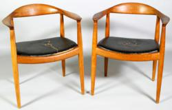 Pair Of Hans Wegner Arm Chairs
