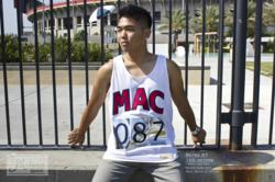 MAC-100 meters white tank top