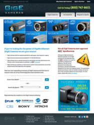 GigECameras.com: New Website Designed by AIMG.com for Phase 1 Technology Corp.'s GigE Camera Products