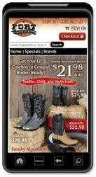 Fort Western Stores Mobile Home Page