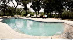 Luxury amenities including swimming pool at Spirit Lodge