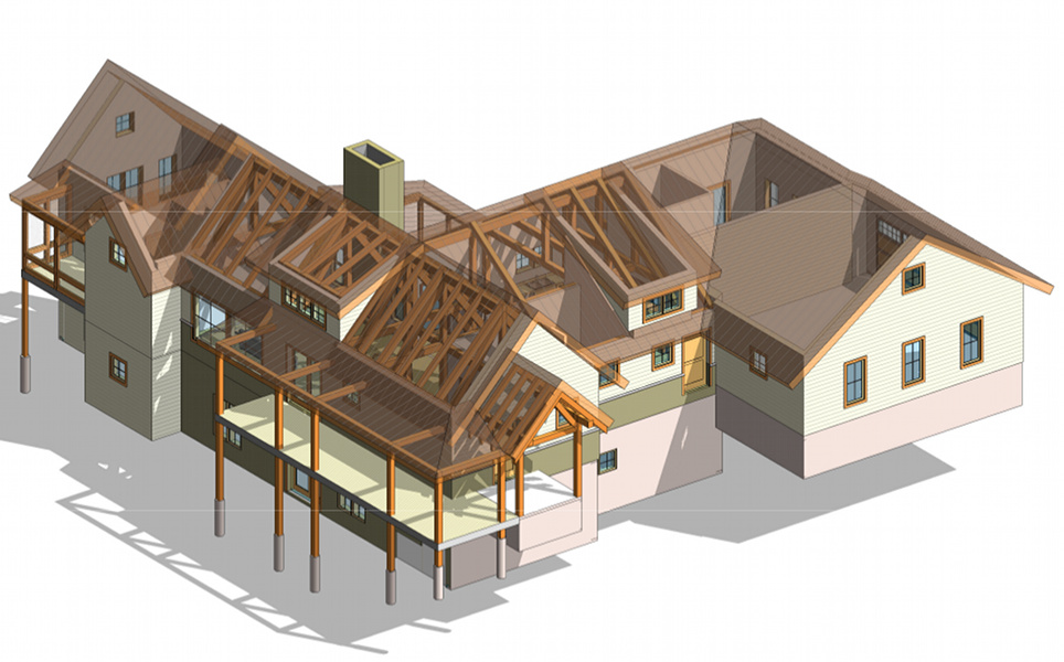 New energy works timberframers expands design team for Revit architecture modern house design 1