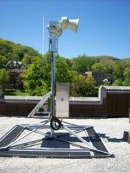 Roof-top installation of ATI's High Powered Speaker Station (HPSS)