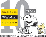 The Charles M. Schulz Museum's tenth anniversary logo
