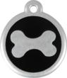 New Red Dingo Aluminum QR Code Black Bone Pet Tag Powered by PetHub