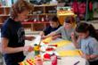 Everest students work on an art project