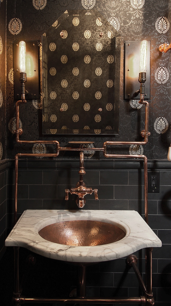 San francisco residential architect andre rothblatt garners attention with steampunk bathroom - Home decor san francisco image ...