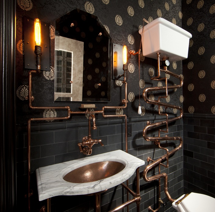 Steampunk Bathroom Design 704 x 693