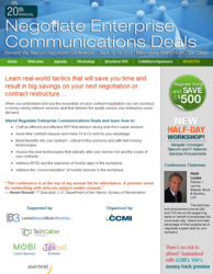Negotiate Enterprise Communications Deals (formerly Telecom Negotiation Conference)