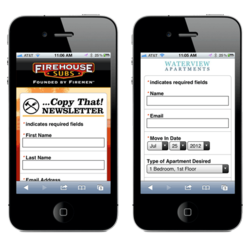Mobile Lead Generation Forms