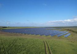 Solar park with Conergy modules in EastCott UK