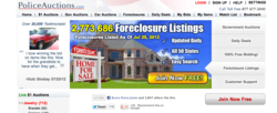 PoliceAuctions.com foreclosure page.