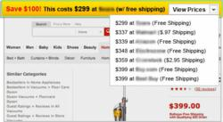 Browser Toolbar or Add-on notifies the user and offer a coupon