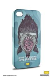 "Mocamomo's ""Sharkface"" iPhone 4/4S Protective Case"