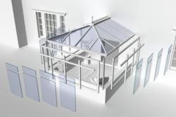 cruciform conservatory frame