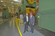 Ray Park, Chairman of the Park Corporation and Gov. Earl Ray Tomblin tour the former South Charleston Stamping and Manufacturing Plant.