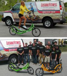 Leisure Fitness enters a team of ElliptiGO riders in the Bike MS: Bike to the Bay and City to Shore Rides