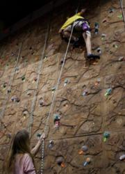 Rock Climbing at the Fitness Compound in Santa Clarita