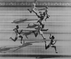 Harrison Dillard wins Gold medal at the 1948 London Olympics