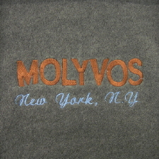 Molyvos Logo Embroidered on Fleece