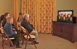 Memorial Tribute on Touchstone TV lift cabinet