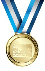 Image of the scientist's award for best places to work in academia 2012