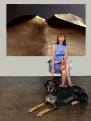 Laurie Frank in her Bergamot Station gallery