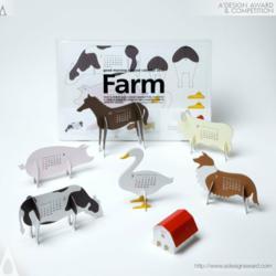 "Good Morning Original Calendar 2012 ""farm"" by Katsumi Tamura"