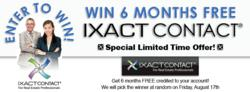 Banner for IXACT Contact's real estate contact management Facebook sweepstakes