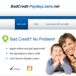 Bad Credit Payday Loans Services