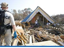 Home destroyed in Hurricane Katrina. Personal leadership and fast decision making on the part of families and individuals helped to save countless lives