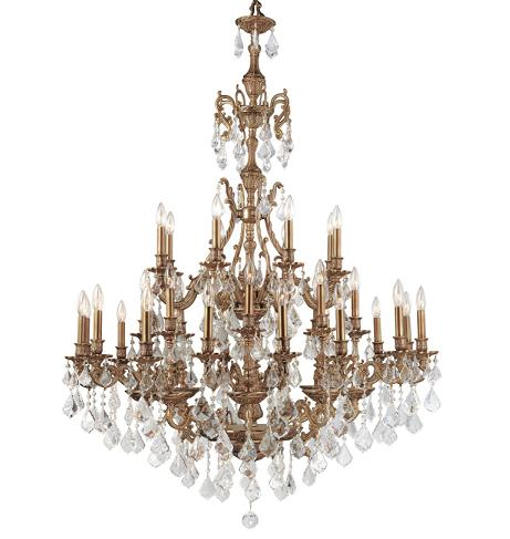 Large crystal chandeliers for big luxurious spaces are introduced yorkshire ornate aged brass chandelier with swarovski strass crystals from crystorama aloadofball Choice Image