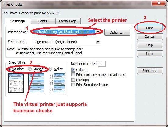 write and print checks in quickbooks