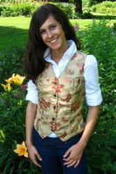 Custom Made Women Vest Style W414, w/Embroidered Tapestry Front by Crooked Brook