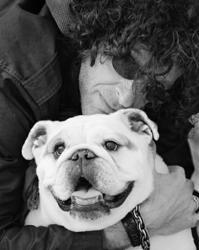 Howard Stern with his beloved bulldog, Bianca