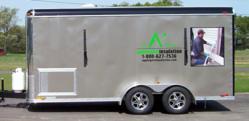 Applegate's top tier foam insulation trailer