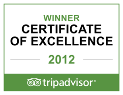 Winner of TripAdvisor's Certificate of Excellence