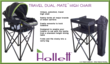 The patented Travel Dual-Mate™ high chair safely holds all major brands of infant carriers and easily converts to hold your toddler - it also fits nicely into a carry bag. All Hollett™ high chairs are designed to enable your baby in an infant carrier or